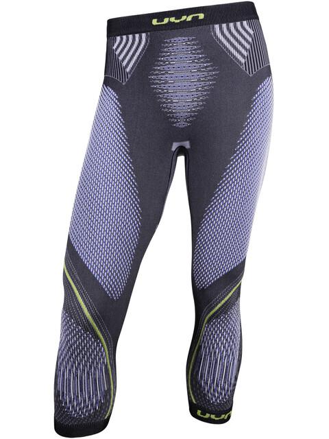 UYN Evolutyon UW Medium Pants Men Anthracite Melange/Blue/Yellow Shiny